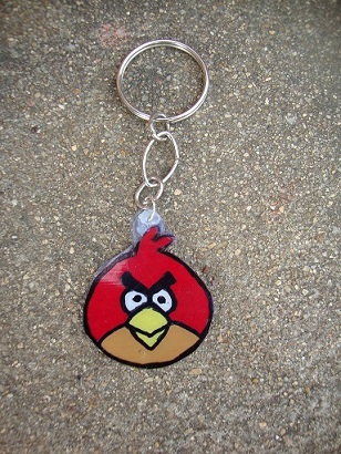 How To Make A Key Chain Angry Bird Key Chain Diy Create