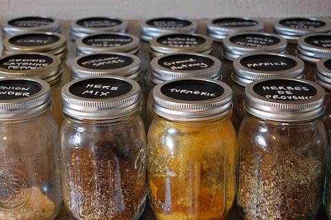 chalk label spice jars
