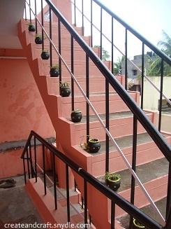 pots on the Steps
