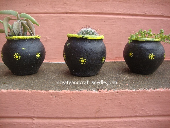 Painted pot planters