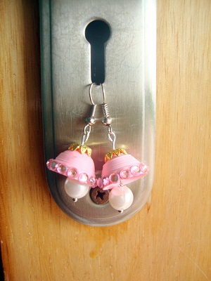 how to make paper earrings jhumkas at home