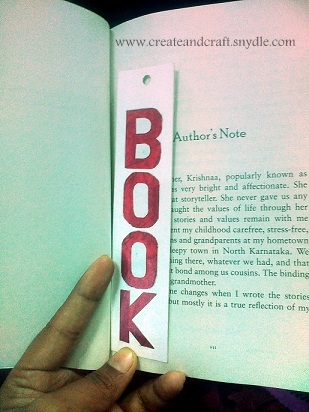Bookmark - stenciled