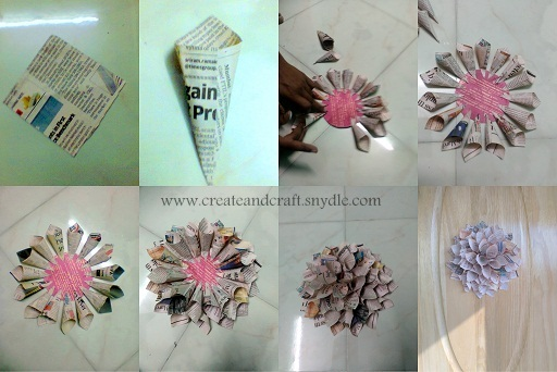 How to make paper dahlias diy wall decor create and craft Home decor craft step by step