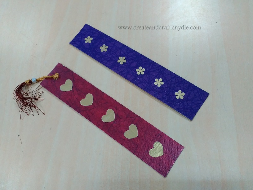 DIY Craft punch Bookmarks - Create And Craft
