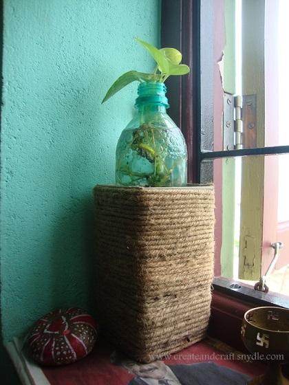 burlap rustic planter